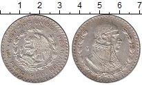 Изображение Монеты Мексика 1 песо 1960 Серебро XF+