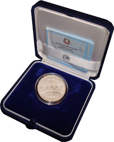 Изображение Подарочные монеты Италия 60-летие организации защиты прав детей 2006 Серебро UNC Монета посвящена 60-
