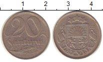 Изображение Монеты Латвия 20 сантим 1922 Медно-никель XF