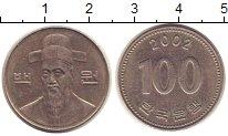 Изображение Монеты Южная Корея 100 вон 2002 Медно-никель XF