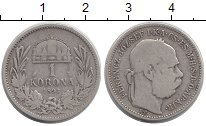 Изображение Монеты Венгрия 1 корона 1893 Серебро VF