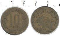 Изображение Монеты Камерун 10 франков 1967 Латунь XF Антилопы.