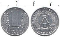 Изображение Монеты ГДР 1 пфенниг 1968 Алюминий XF А