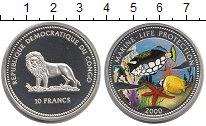 Изображение Монеты Конго 10 франков 2000 Серебро Proof- Морская фауна