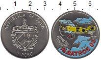 Изображение Монеты Куба 1 песо 1994 Медно-никель UNC Самолет Альбатрос DI