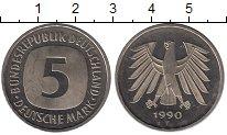 Изображение Монеты ФРГ 5 марок 1990 Медно-никель UNC