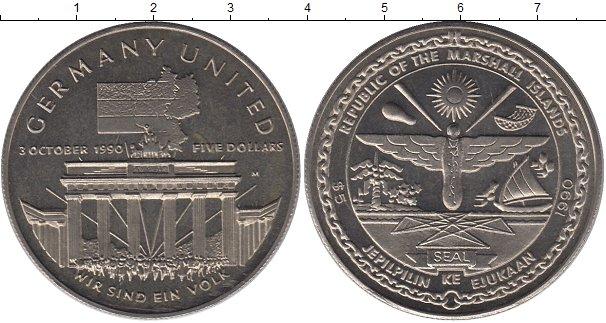 Картинка Подарочные монеты Маршалловы острова 5 долларов Медно-никель 1990