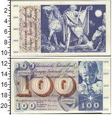 Изображение Банкноты Швейцария 100 франков 0  UNC- 100 франков 1956-73г