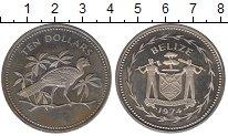 Изображение Монеты Белиз 10 долларов 1974 Медно-никель Proof-