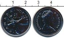 Изображение Монеты Канада 25 центов 1989 Медно-никель UNC