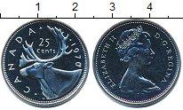 Изображение Монеты Канада 25 центов 1970 Медно-никель UNC Елизавета II