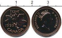 Изображение Монеты Канада 1 цент 1993 Медь UNC