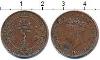 Изображение Монеты Цейлон 1 цент 1940 Медь XF