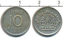 Изображение Монеты Швеция 10 эре 1956 Серебро VF