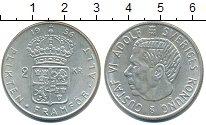 Изображение Монеты Швеция 2 кроны 1956 Серебро XF