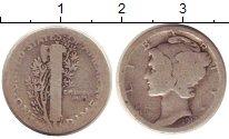 Изображение Монеты США 1 дайм 1917 Серебро VF