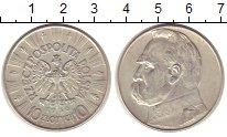 Изображение Монеты Польша 10 злотых 1936 Серебро XF Й.Пилсудский