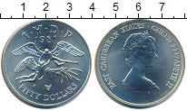 Изображение Монеты Карибы 50 долларов 1981 Серебро UNC