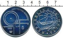 Изображение Монеты Мальта 5 лир 1983 Серебро UNC