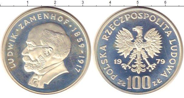 Картинка Монеты Польша 100 злотых Серебро 1979