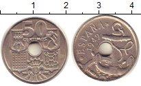 Изображение Монеты Испания 50 сентимо 1949 Медно-никель XF
