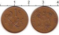 Изображение Монеты ЮАР 1 цент 1984 Медь VF