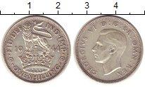Изображение Монеты Великобритания 1 шиллинг 1944 Серебро XF Георг VI