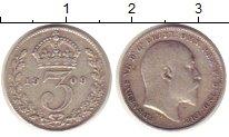 Изображение Монеты Великобритания 3 пенса 1909 Серебро VF Эдуард VII.
