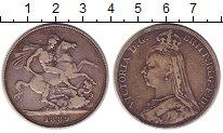 Изображение Монеты Великобритания 1 крона 1889 Серебро XF-