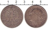 Изображение Монеты Польша 5 злотых 1932 Серебро XF-