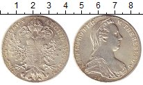 Изображение Монеты Австрия 1 талер 1780 Серебро UNC- Мария  Терезия.РЕСТР