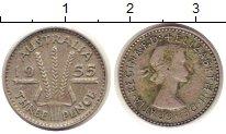 Изображение Монеты Австралия 3 пенса 1955 Серебро XF Елизавета II