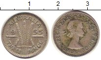 Изображение Монеты Австралия 3 пенса 1955 Серебро XF