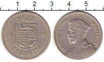 Изображение Монеты Фиджи 1 флорин 1936 Серебро XF-