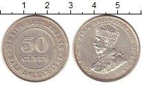 Изображение Монеты Стрейтс-Сеттльмент 50 центов 1921 Серебро UNC-