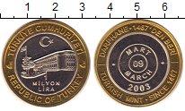 Изображение Монеты Турция 1000000 лир 2003 Биметалл UNC-