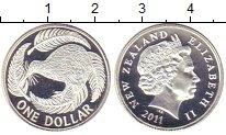 Изображение Монеты Новая Зеландия 1 доллар 2011 Серебро Proof
