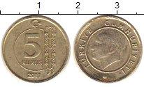 Изображение Монеты Турция 5 куруш 2011 Латунь XF