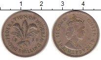 Изображение Монеты Нигерия 1 шиллинг 1959 Медно-никель XF Елизавета II.