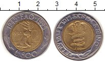 Изображение Монеты Сан-Марино 500 лир 1995 Биметалл XF