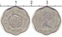 Изображение Монеты Сейшелы 5 центов 1972 Алюминий XF