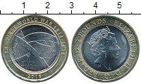 Изображение Мелочь Великобритания 2 фунта 2016 Биметалл UNC- Елизавета II.  Солда