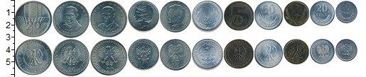 Изображение Наборы монет Польша Польша 1971-1990 1976  UNC- В наборе 11 монет но