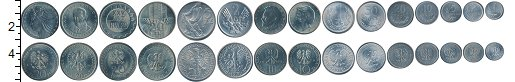 Изображение Наборы монет Польша Польша 1949-1973 0  UNC- В наборе 15 монет но