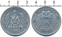 Изображение Монеты Любек 3 марки 1911 Серебро XF