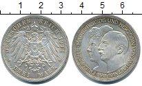 Изображение Монеты Анхальт-Дессау 3 марки 1914 Серебро XF 25 лет бракосочетани