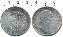 Изображение Монеты Шварцбург-Зондерхаузен 3 марки 1909 Серебро XF на кончину Карла Гюн