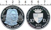 Изображение Монеты Андорра 10 динерс 1998 Серебро Proof композитор Георг Фри