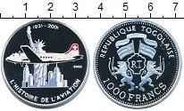 Изображение Монеты Того 1000 франков 2002 Серебро Proof
