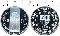 Изображение Монеты Андорра 10 динерс 1993 Серебро Proof